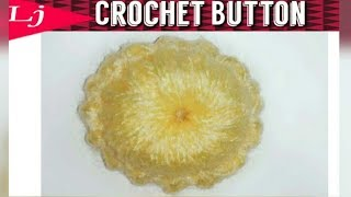 Never buy a button again! Learn How to Crochet a Button
