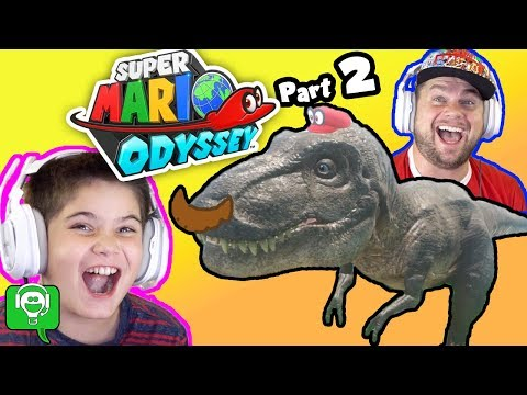 Mario Odyssey Part 2 T-Rex And Sand Kingdom By HobbyKidsGaming