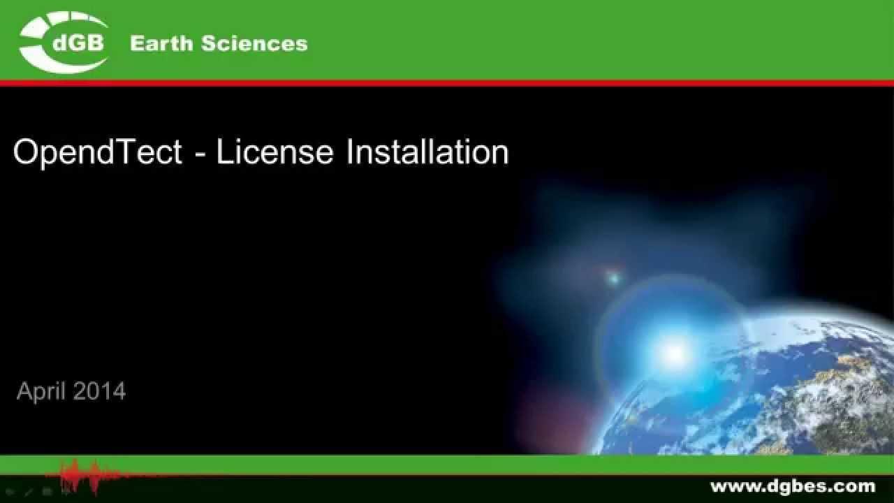 opendtect license file