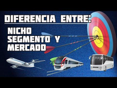 Diferencia Entre Nicho, Segmento y Mercado