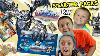 """Skylanders SuperChargers: WHAT A """"RIP""""!?!?  Starter Pack Unboxing: Dark Edition, WiiU & Xbox One Fun"""