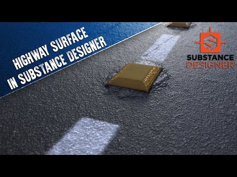 Creating a Highway (with Reflectors) in Substance Designer