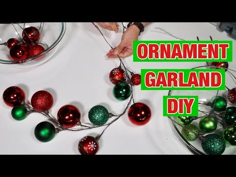 Christmas Dollar Tree DIY / Making Ornament Garlands (How To) / Christmas Tree And Wreath Decor