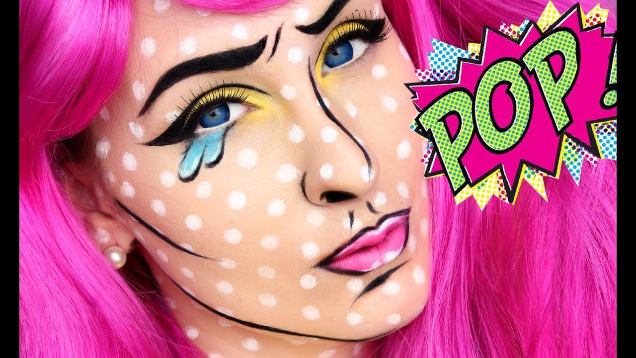 HALLOWEEN TUTORIAL | CARTON POP ART GIRL - YouTube