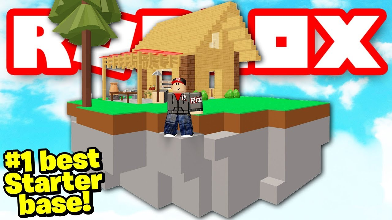 I Made The 1 Starter Base In Skyblock Roblox Youtube
