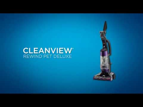 How to use CleanView® Deluxe Rewind Pet Upright Vacuum | BISSELL