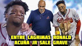Ronald Acuña Jr. Pierde toda la Temporada tras esta terrible Caída