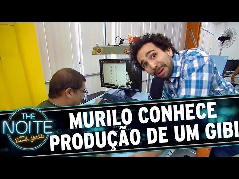 The Noite (27/10/15) - Murilo Couto Acompanha A Produção De Um Gibi