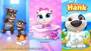 My Talking Hank vs My Talking Tom vs My Talking Angela - Android (Gameplay)