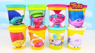 Trolls Play Doh Can Heads Surprise Toys Trolls Blind Bags Surprise Eggs & Molds