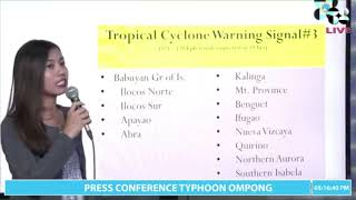 Pagasa 5 p.m. weather update on Typhoon 'Ompong'