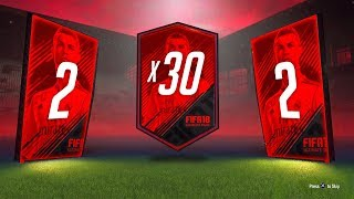 IN-FORM - 30 x 2 PLAYER UPGRADE PACKS - FIFA 18 Ultimate Team