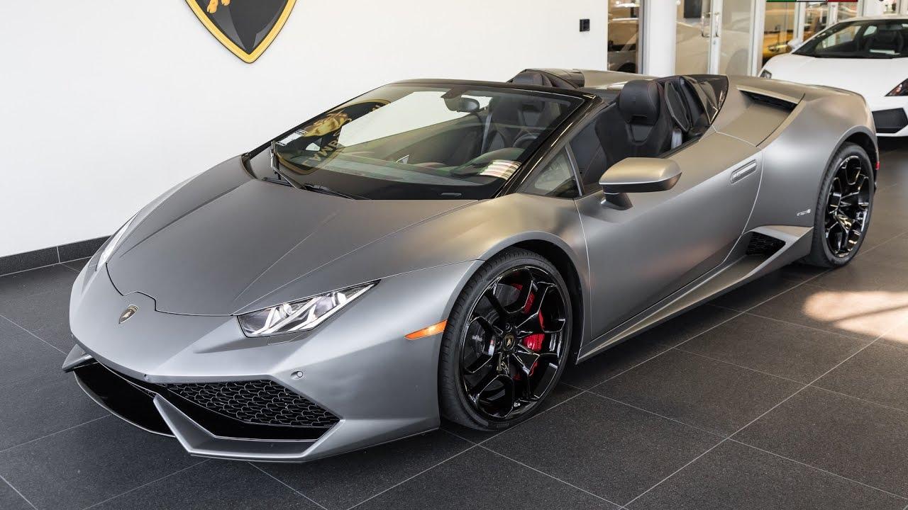 2016 Quot Grigio Titans Quot Lamborghini Hurac 225 N Lp610 4 Spyder Youtube