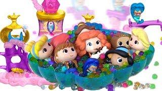 ДИСНЕЕВСКИЕ ПРИНЦЕССЫ Disney Princess ВЕЧЕРИНКА В ЗАМКЕ SHIMMER & SHINE POOL PARTY Видео для Детей