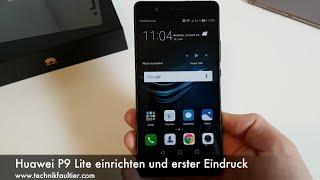 Huawei P9 Lite einrichten und erster Eindruck