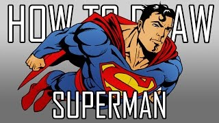 How To Draw Superman - Quick Simple Easy Steps For Beginners 06