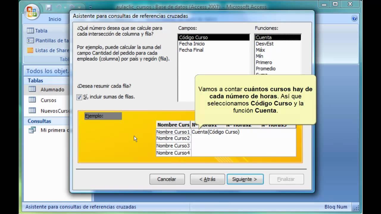 Curso De Access 2007 Referencias Cruzadas Youtube