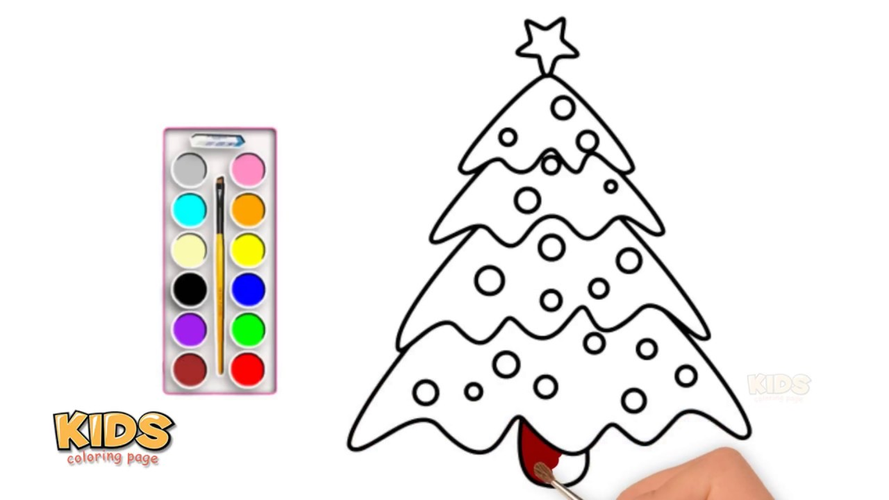 How To Draw A Christmas Tree Art For Kids Doraemon Super Coloring Pages For K Youtube