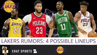 Lakers Rumors: 4 Possible Starting Lineups For Lakers Next Season w/ Anthony Davis & Kyrie Irving