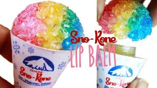 DIY Sno-Cone Lip Gloss - How To Make Peppermint Lip Balm - Resin Tutorial Thumbnail