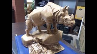 Фрезеровка носорога на ЧПУ