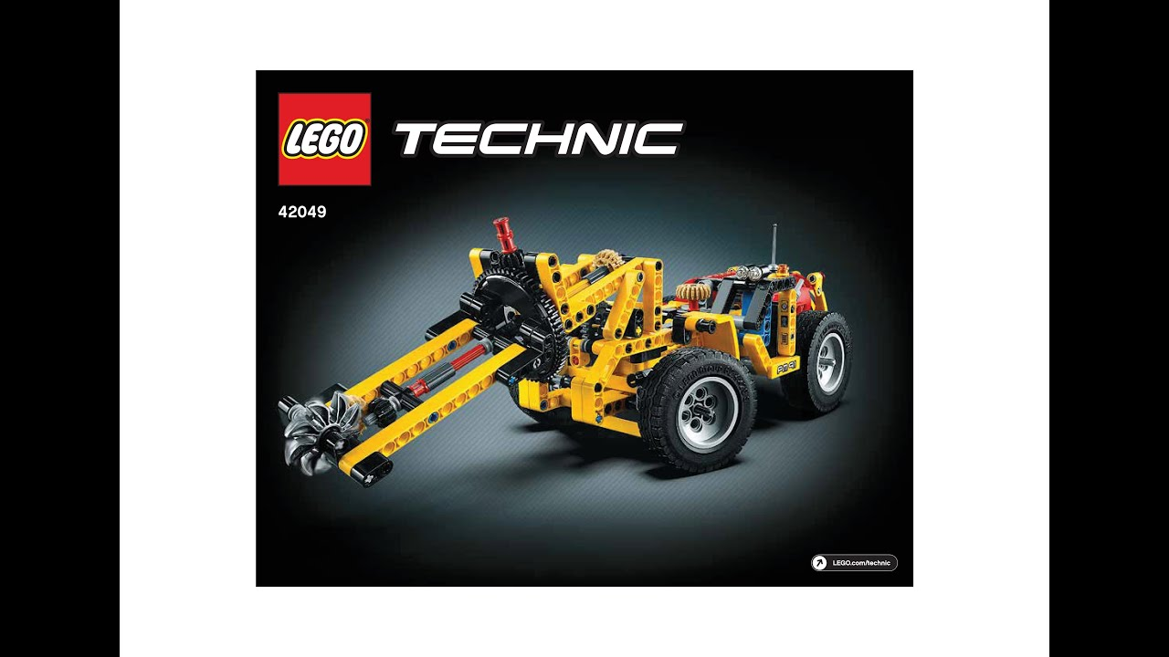 lego 42049 mine cutting machine instructions lego technic 2016 youtube. Black Bedroom Furniture Sets. Home Design Ideas