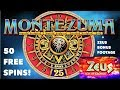 Montezuma SLOT MACHINE 50 Spins HAVE YOU EVER SEEN THIS???
