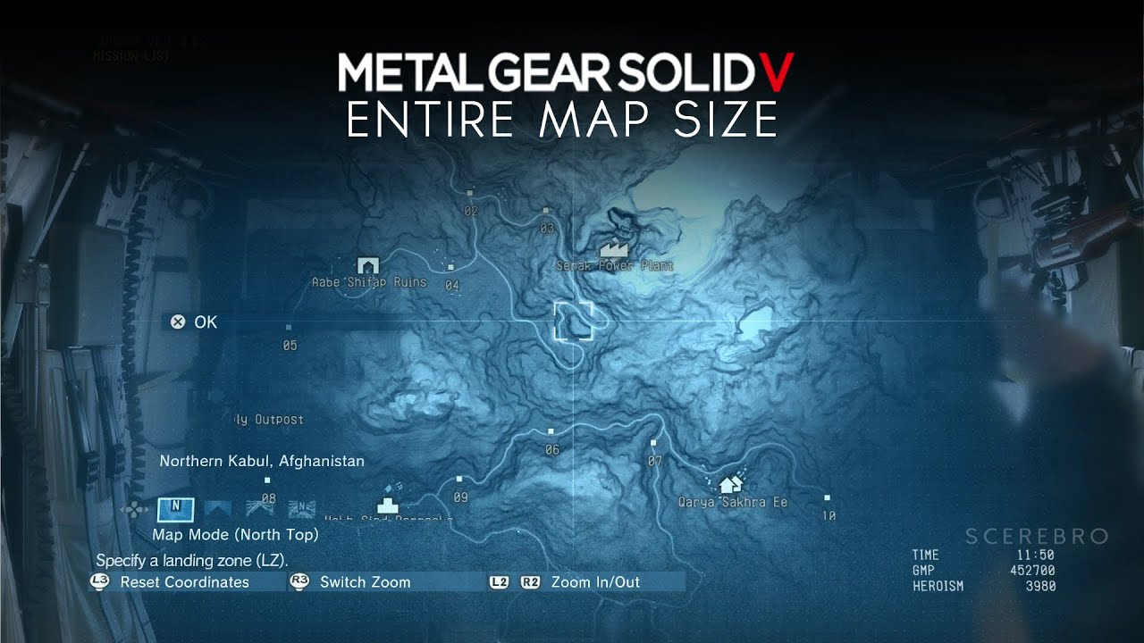 Metal Gear Solid 5 Map Metal Gear Solid 5: The Phantom Pain   Open World Map Size