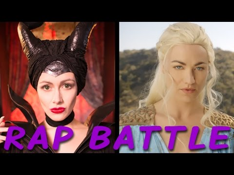MALEFICENT vs DAENERYS: Princess Rap Battle Yvonne Strahovski & Whitney Avalon *explicit*
