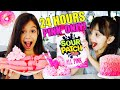 24 HOURS EATING ONLY PINK FOOD CHALLENGE!