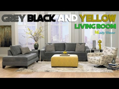 [Daily Decor] Grey Black and Yellow Living Room