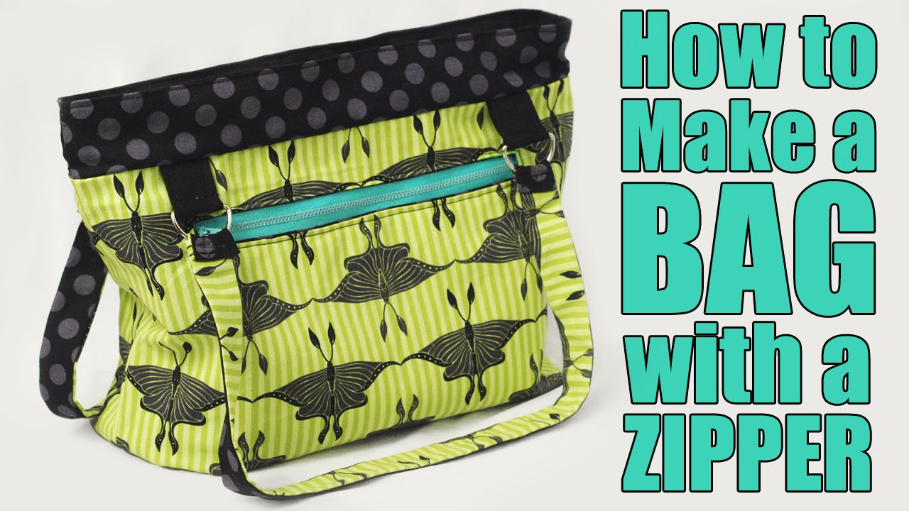 How to make a bag or purse with a zipper sewing tutorial youtube jeuxipadfo Image collections