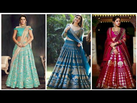 Trending Banarasi Lehenga Choli Designs Of 2019 Banarasi Lehenga Blouse Bridal Lehenga Choli Youtube,Simple False Ceiling Designs For Living Room In India
