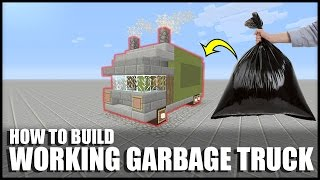 How to Make a Working Garbage Truck in Minecraft