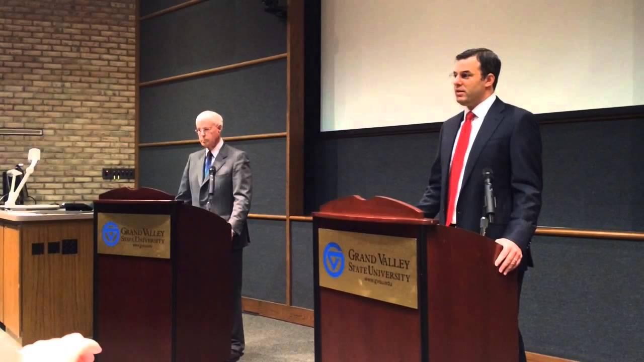 Rep. Justin Amash, challenger Bob Goodrich debate