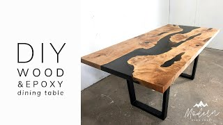DIY Epoxy And Wood Dining Table (OLD VERSION)