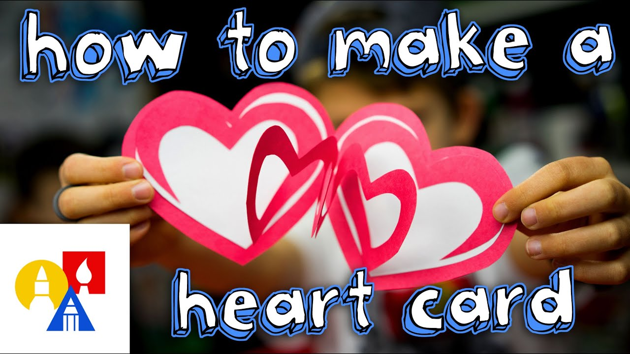 How To Make An Easy Valentines Heart Card  YouTube