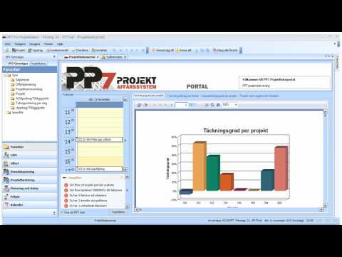 Affärssystem för projekt. Kort presentation av PP7.