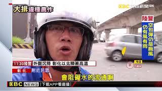 員林大排香蕉園奇景 颱風來前速清除