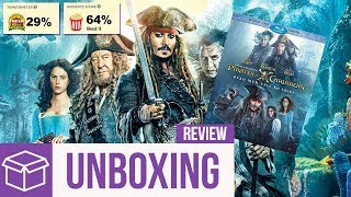 Pirates of the Caribbean: Dead Men Tell No Tales Blu Ray Unboxing + Review (Digital HD Giveaway) 2017 Video