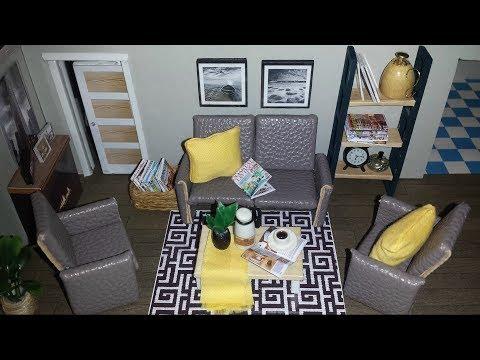 DIY Miniature Dollhouse Living Room