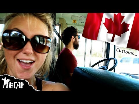 Canadian Border Crossing In Our School Bus | Customs Shakedown