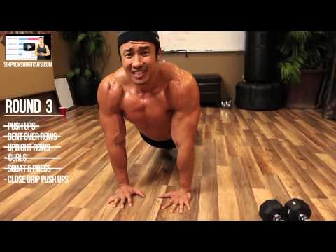 Home Muscle Building + Cardio Workout in 720p by Mike Chang