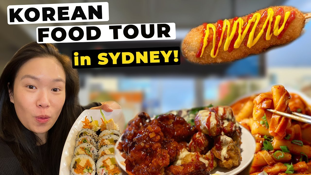 TASTY KOREAN STREET FOOD SNACK TOUR in SYDNEY AUSTRALIA (Must Visit Sydney Restaurants)  悉尼必試韓國小食