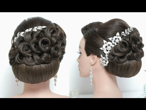 Stunning wedding updo Hairstyle for long hair tutorial