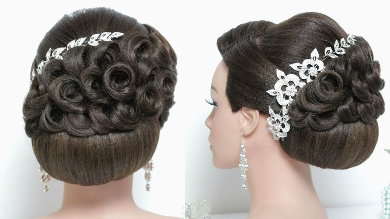 bridal hairstyle for long hair tutorial. stunning wedding updo.