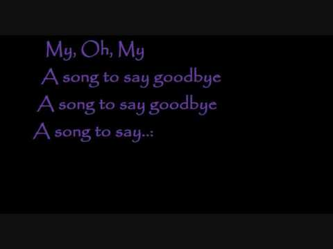 Songs that say goodbye lyrics