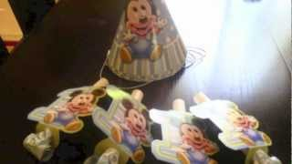 Baby Mickey Mouse Party Supplies and Clubhouse Birthday Decorations Ideas From Favors to Hats