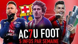L'ACTU FOOT : Neymar veut partir ? I Griezmann ira au Barca I Le Portugal champion !