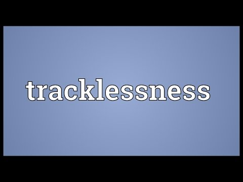 Header of tracklessness